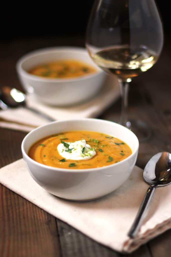 Curried-Butternut-Squash-Soup recipe-and wine pairing