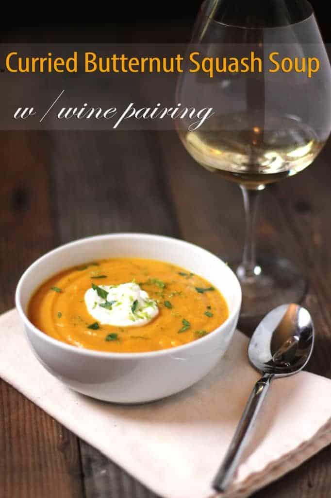 Curried-Butternut-Squash-Soup-and-wine-pairing | vindulgeblog.com