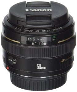 Canon 50 mm 1.4 lens