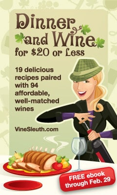 Receive your free ebook, Dinner and Wine for $20 or Less, with guest contributor – ME