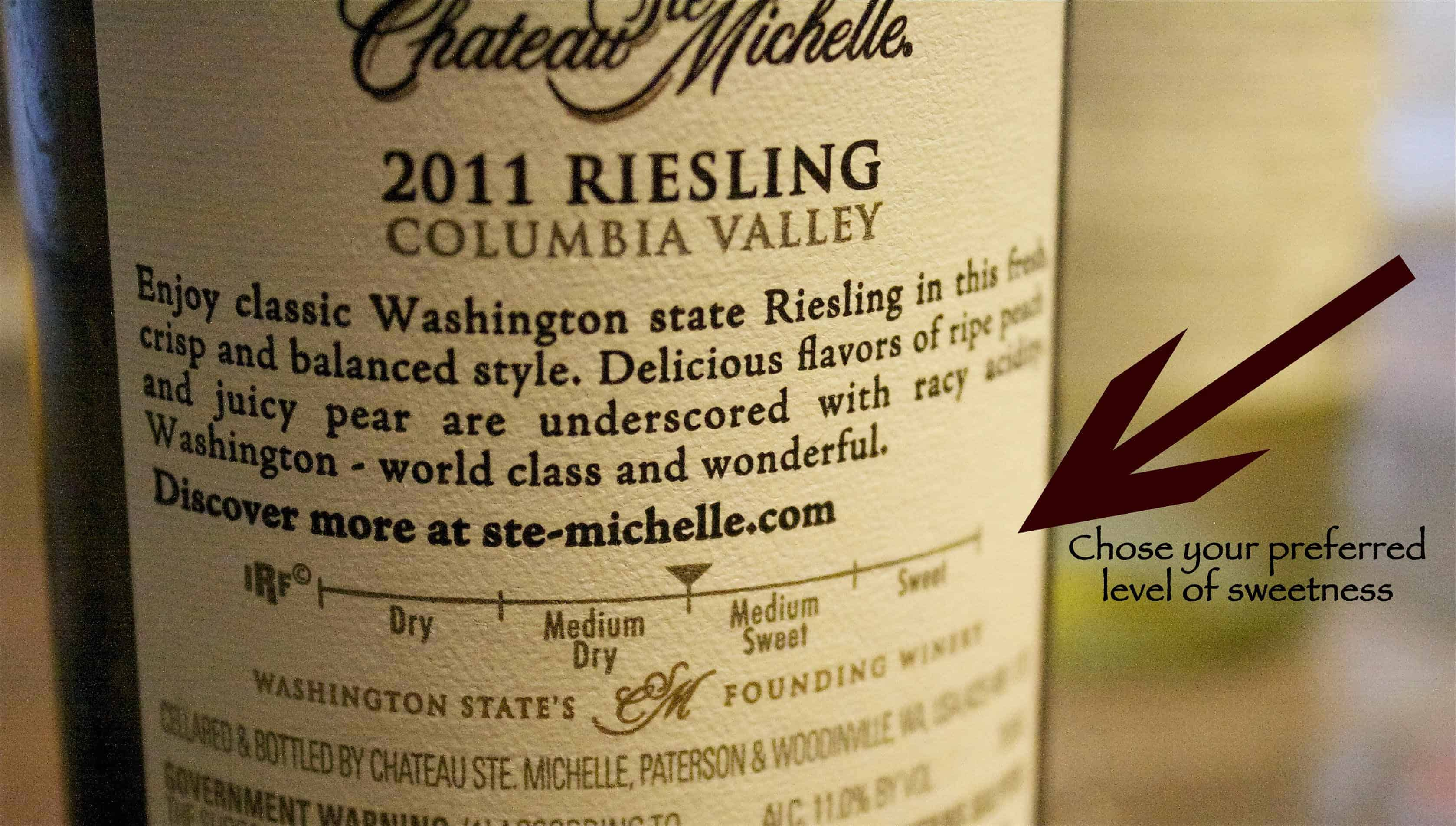 Riesling for all palates from Chateau Ste. Michelle