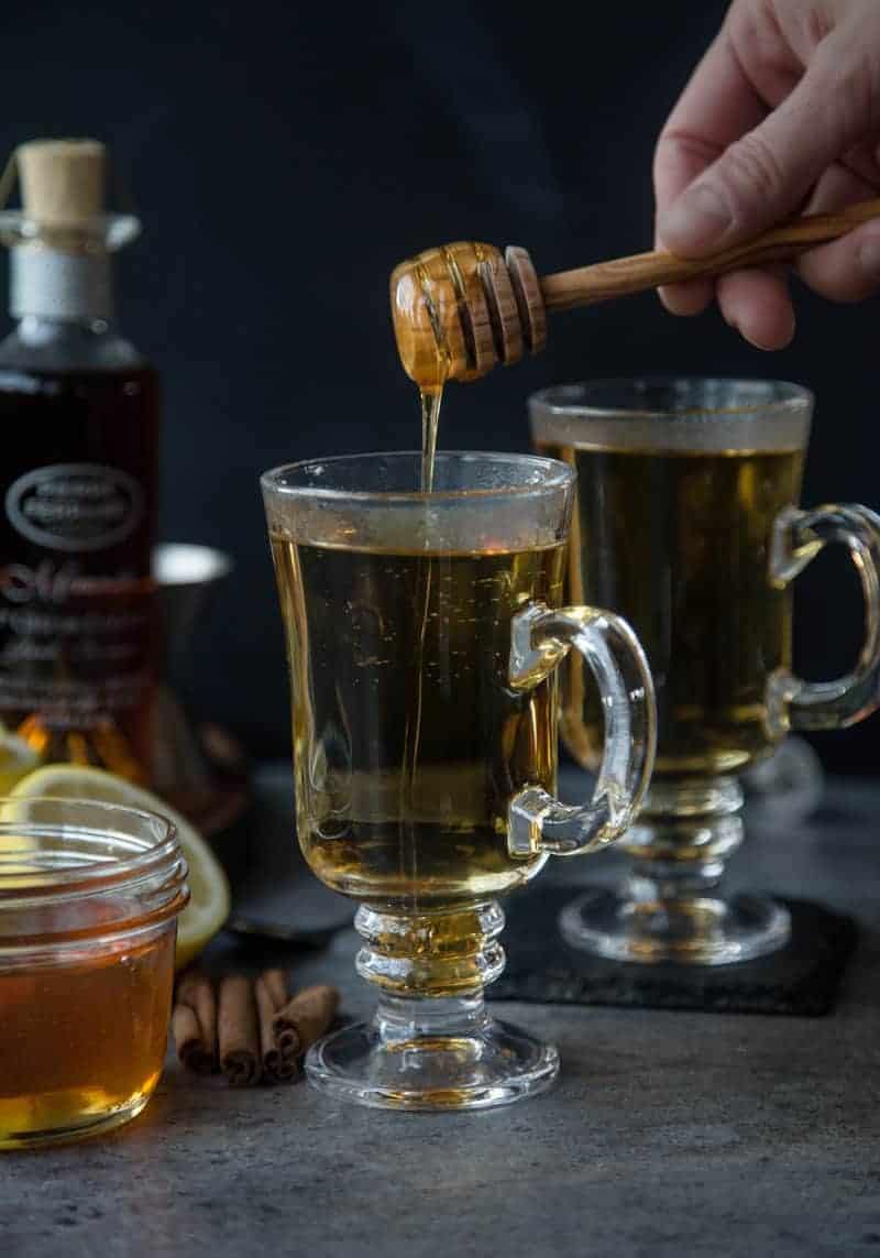 Hot Toddy with honey drizzle.