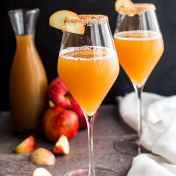 Two Apple Cider Mimosas