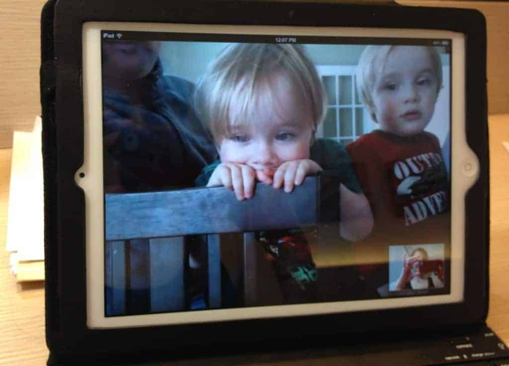 Skyping with the kids