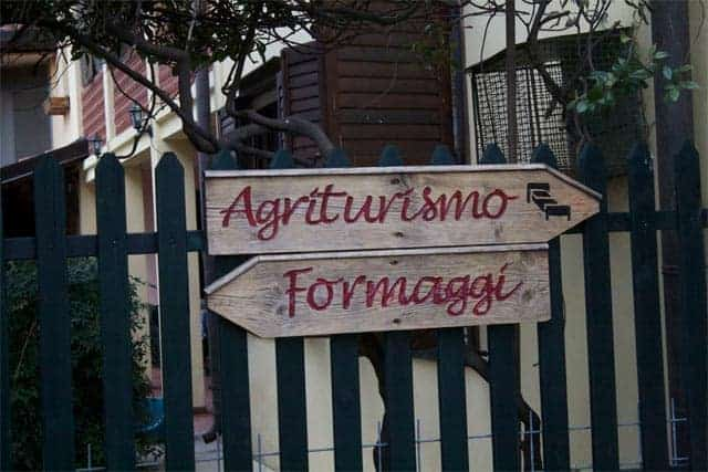 Zoff Agriturismo sign