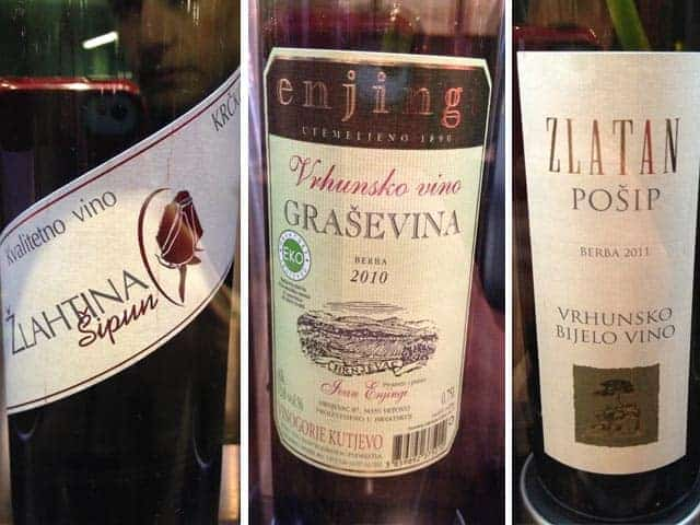 Croatian wines at Dobra Vina