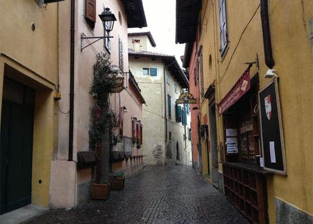 Friuli, walking on a street