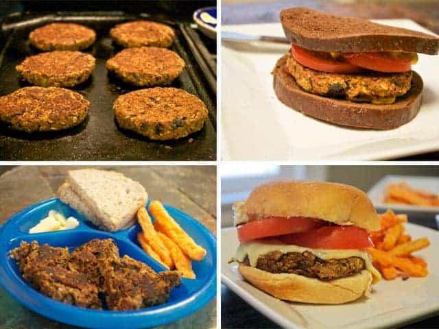 Homemade Veggie Burger collage