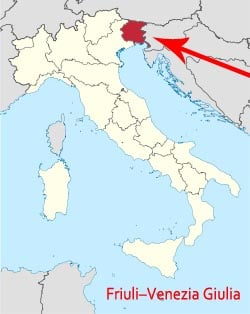 Map of Friuli