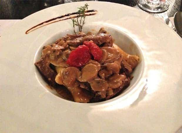 Pumpkin Mushroom Ravioli at Dobra Vina