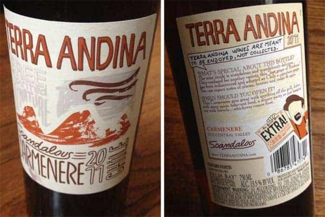 Terra Andina 2011 Carmenere