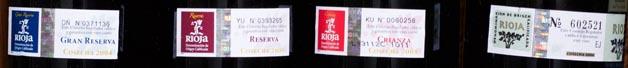 4 Rioja Labels