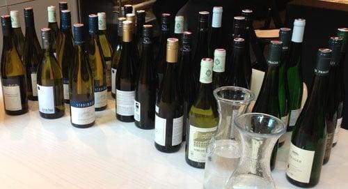 Austrian Wine Tasting Bottles