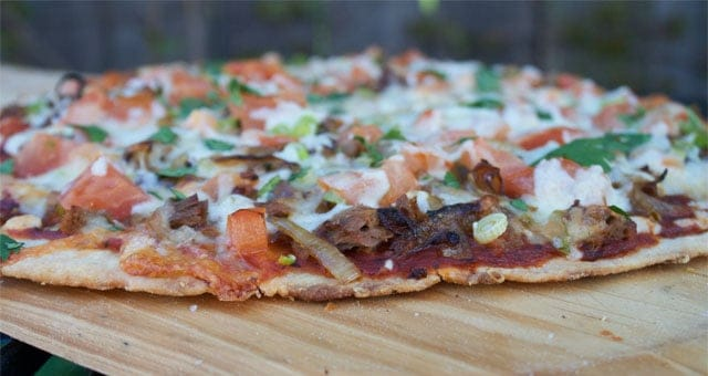 Brisket Pizza side view