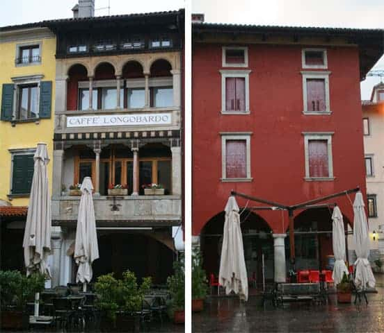 Buildings side by side in Cividale