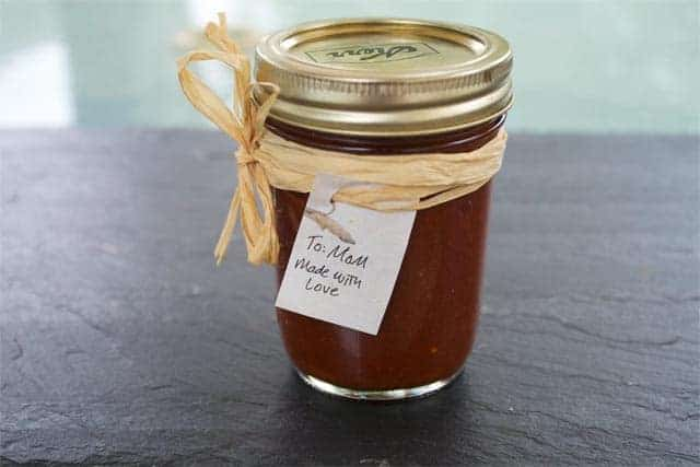 Red Chile Sauce in Mason Jar
