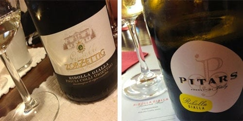 Ribolla Gialla from Friuli bottle shots