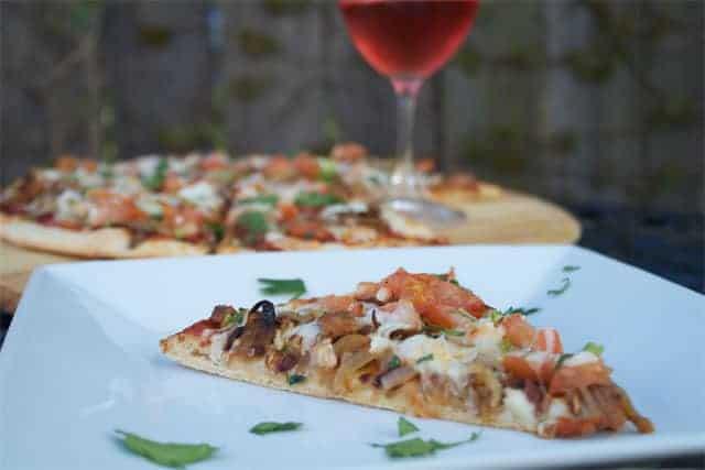 Smoked Brisket Pizza with wine pairing