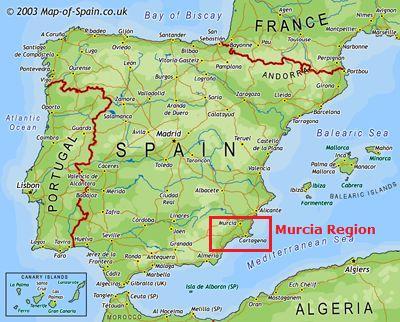 murcia spain map