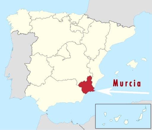 Murcia map