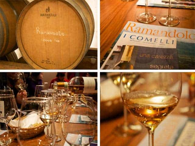 Tasting at I Comelli Winery in Friuli