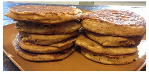 pumpkin pancakes my version