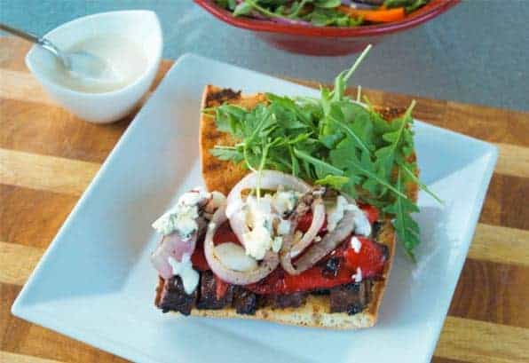 Grilled Marinated Skirt Steak Sandwiches with Creamy Horseradish Sauce