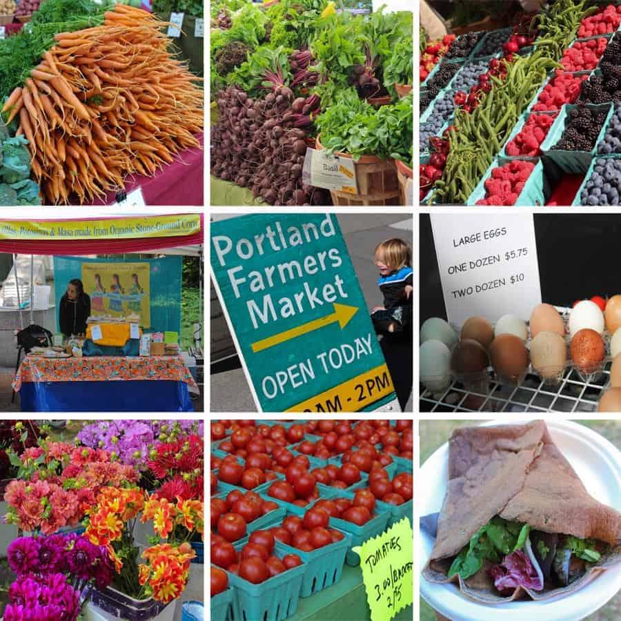 Portland Farmer's Market Collage