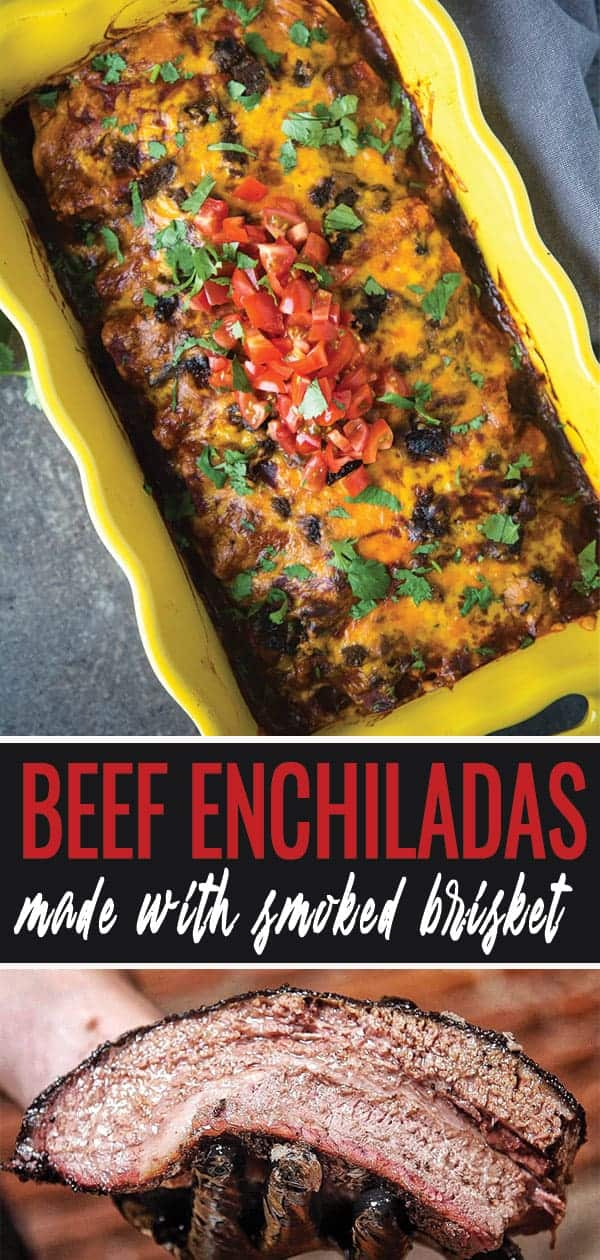 Beef Enchiladas pin for pinterest