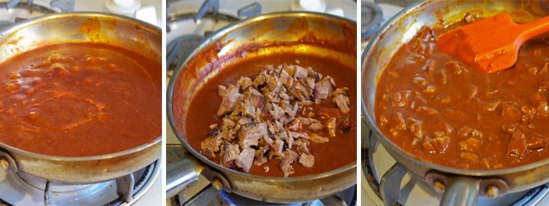 Making Brisket Enchilada Sauce