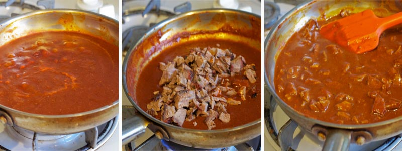 Making Brisket Enchilada Sauce