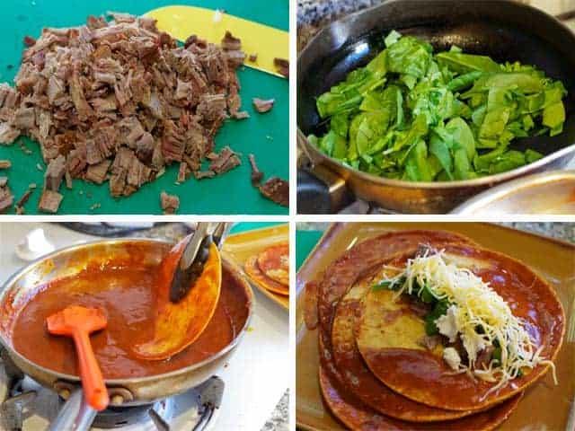 Preparing Smoked Brisket Enchiladas