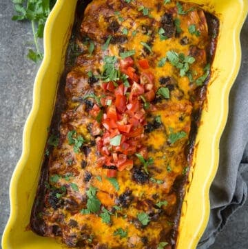 Beef Enchiladas — Made with Smoked Brisket