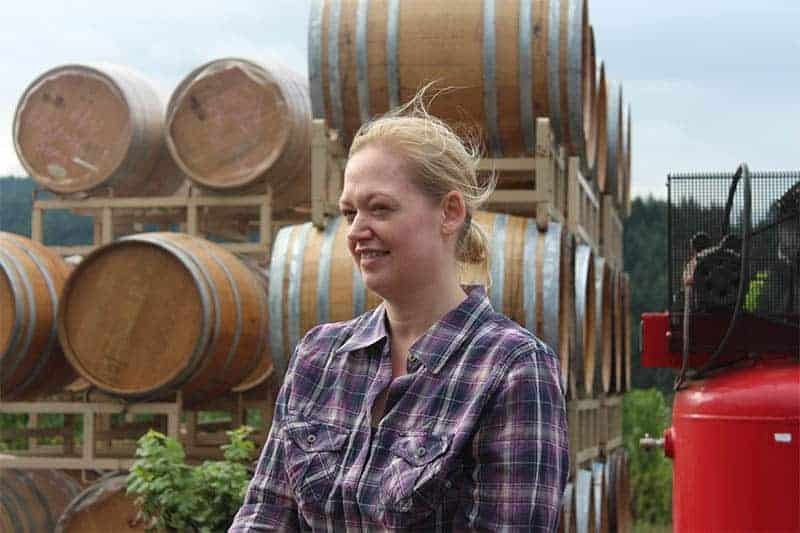 Winemaker Kim Kramer of Kramer Vineyards