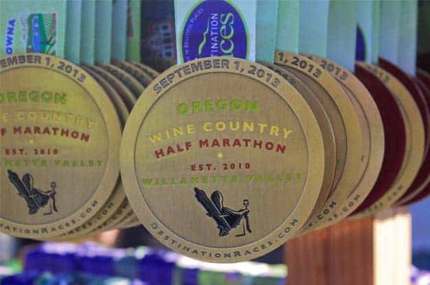 Oregon Wine Country Half Marathon Medals