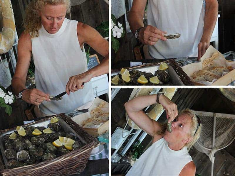 How to eat an oyster demo