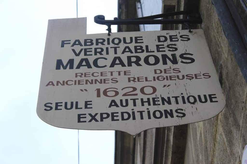 Macaron shop in Saint Emilion