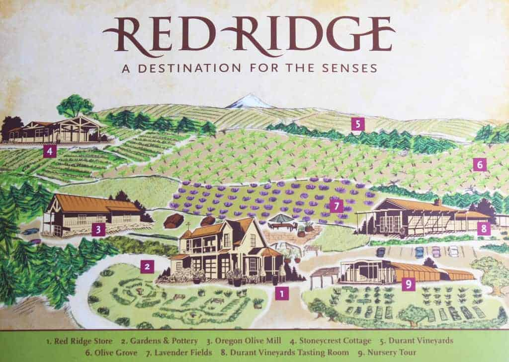Red Ridge map