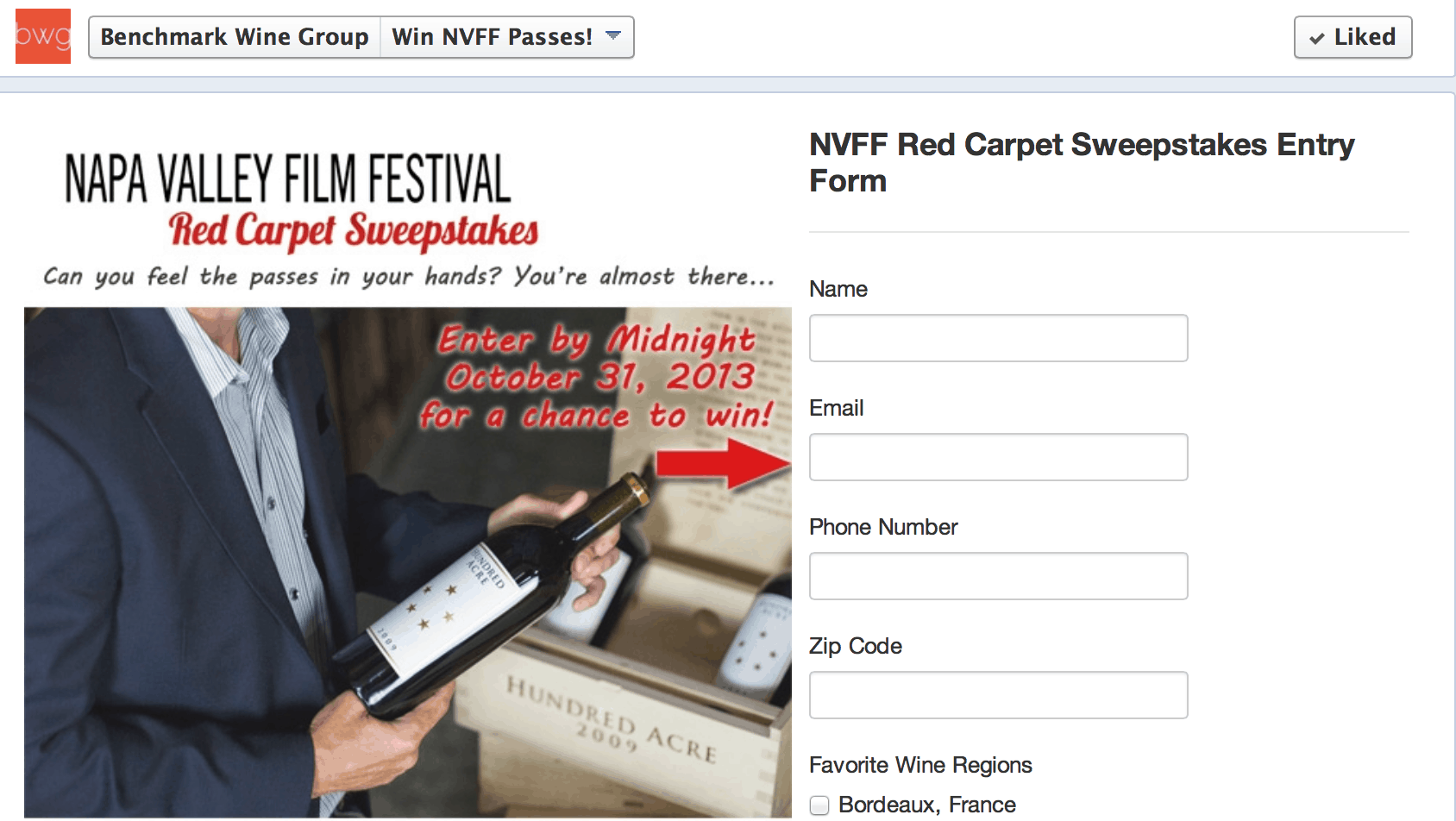 Win Tickets to the Napa Valley Film Festival