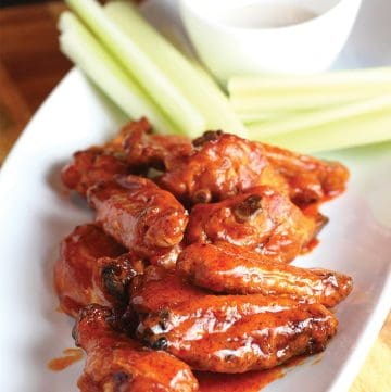 The Ultimate Smoked Buffalo Chicken Wings (with crispy skin!)