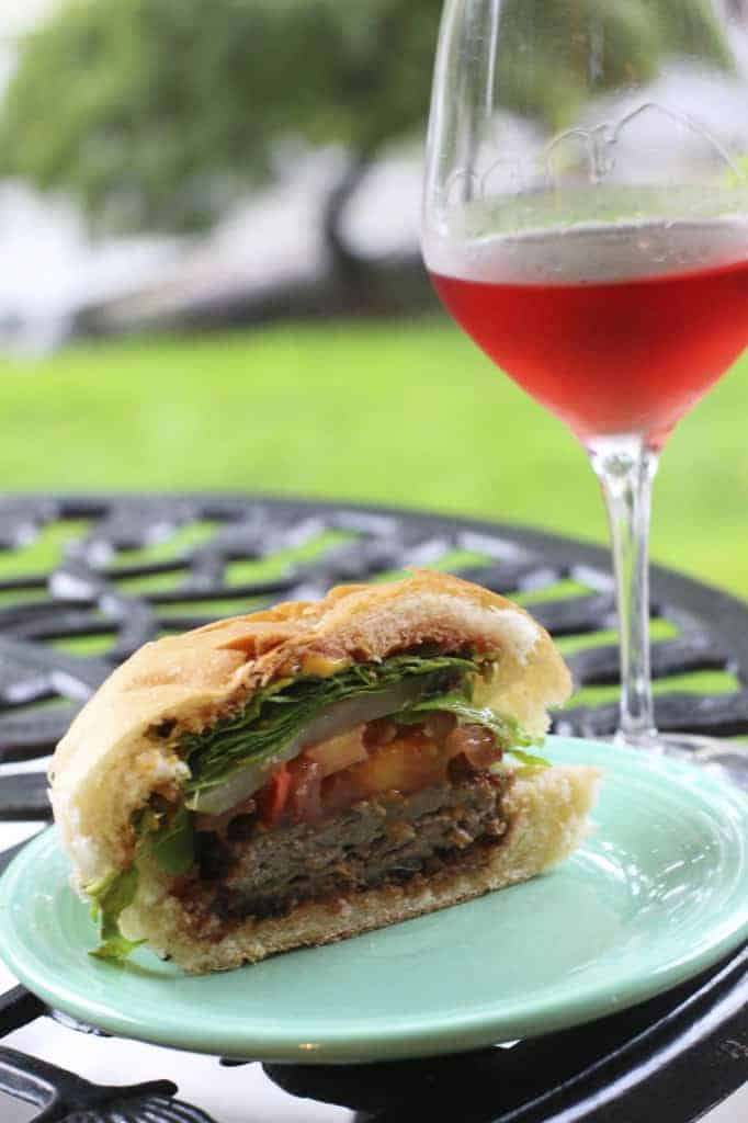Esporao Alandra Rose and Turkey Burger