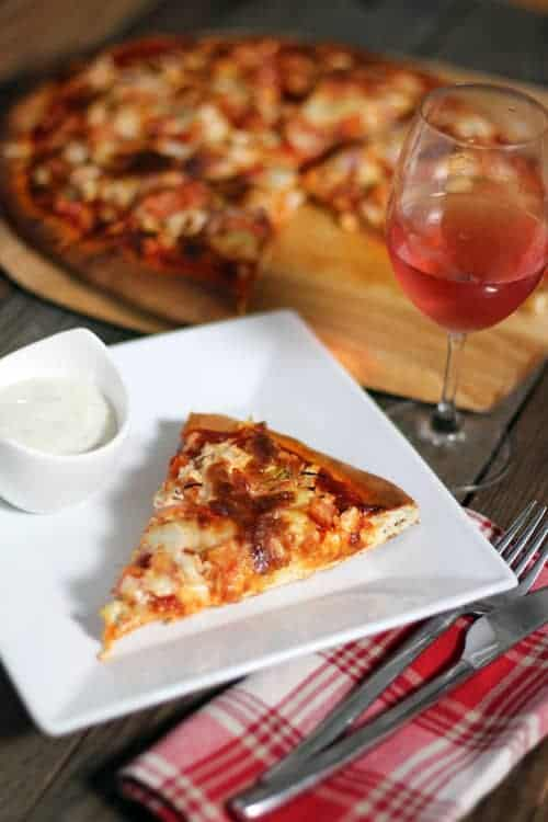 Smoked Buffalo Chicken Pizza and Wine Pairing