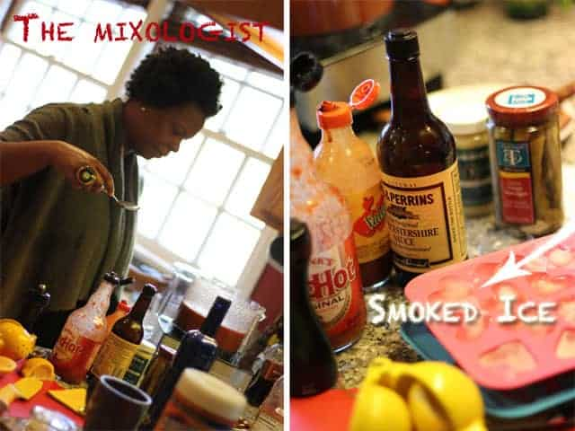 The mixologist and the smoked ice