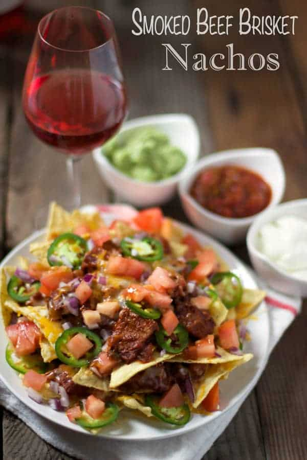 Smoked Beef Brisket Nachos - the ultimate use for leftover beef brisket