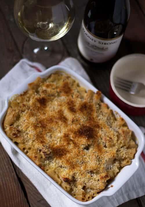 ... rich and creamy oaked Chardonnay. Creamy, cheesy, bacon-y goodness