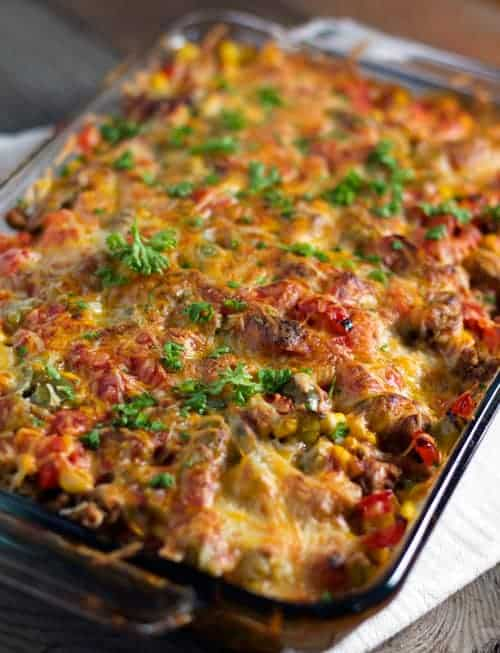Pinch of Yum inspired Mexican Casserole