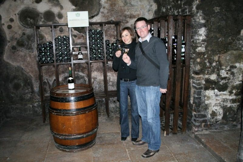 Tasting wine in Burgundy