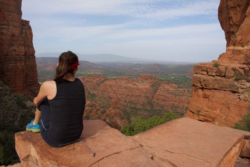 Admiring the Views at Cathedral Rock, Sedona, Arizona