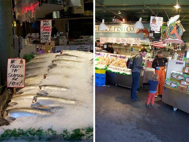 Buying fish at Pike Place Fish Market