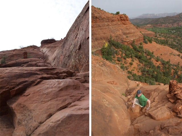 Going UP, going DOWN, Cathedral Rock, Sedona, Arizona